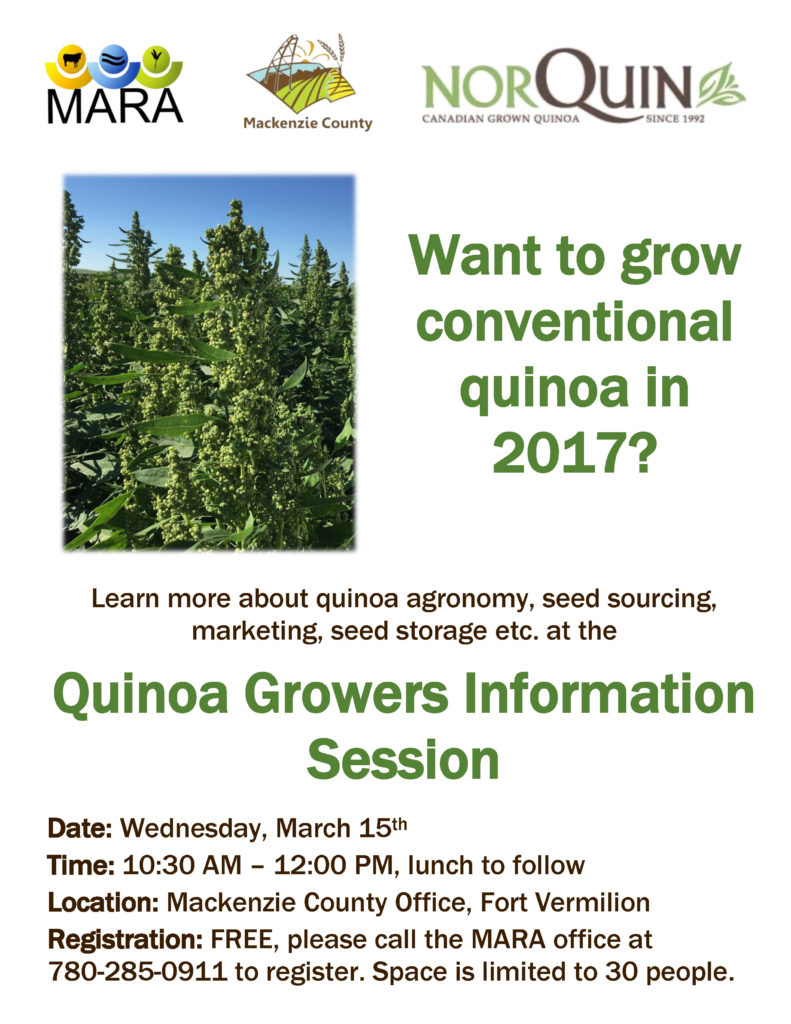 Quinoa information session in Mackenzie County