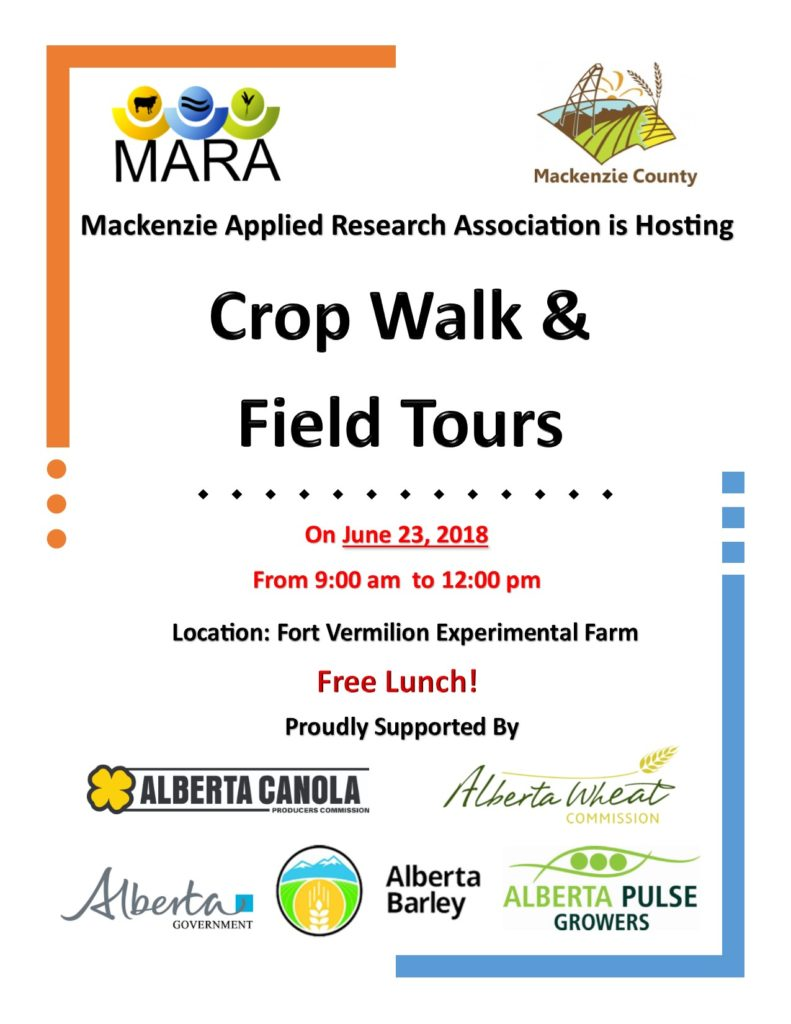 Crop Walk, Field Tours and Extension