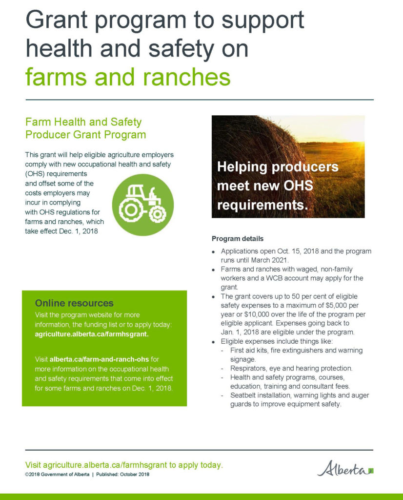 Alberta Farms & Ranch Safety Grant